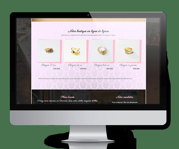 site bijoux webmaster
