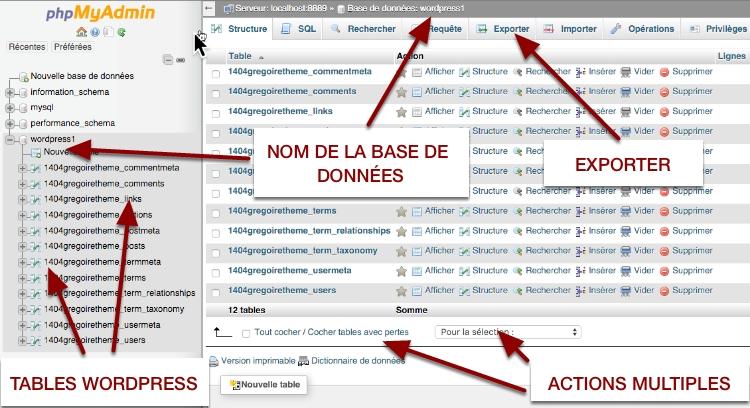 etapes de base du site web wordpress vers un nouvel hote