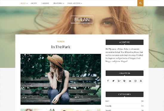 Bulan Free WordPress Themes