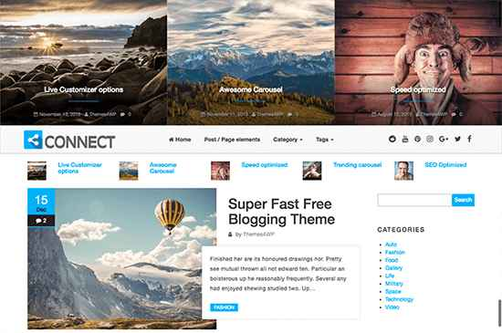 Connect Free WordPress Themes