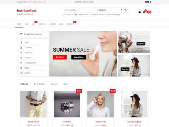 Envo Storefront theme gratuit