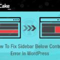 Fix Sidebar Below Content Error In WordPress