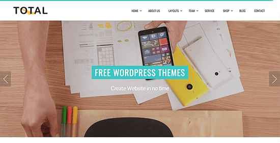 Total Free WordPress Themes