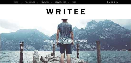 Writee Free WordPress Themes