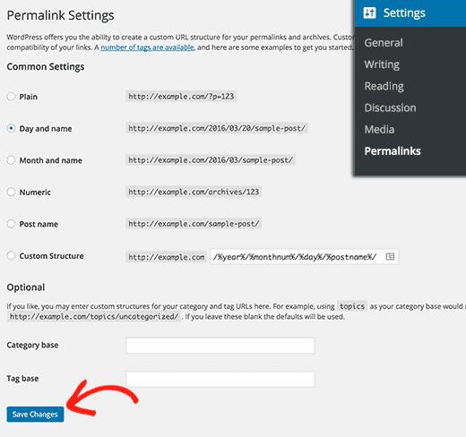 Cliquez sur Enregistrer les modifications