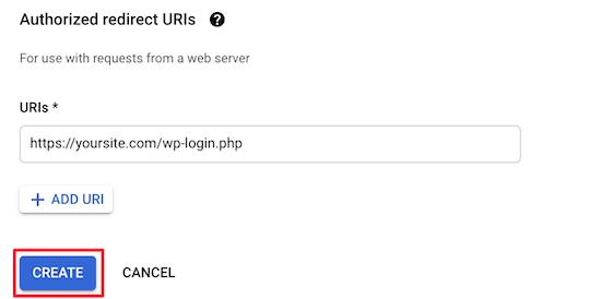 Add redirect URL