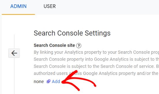 Ajouter une console de recherche