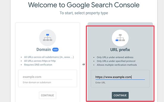Ajouter l'URL du site Web