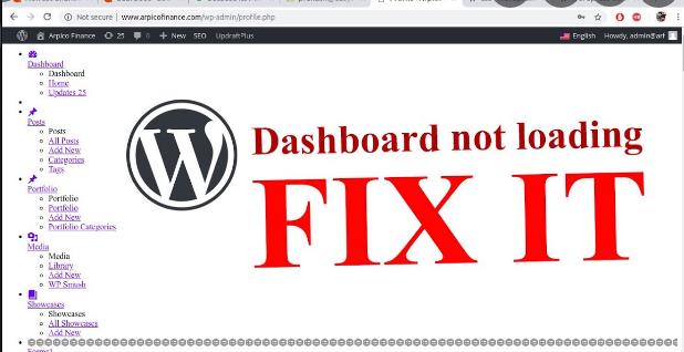 administration de WordPress ne saffiche pas correctement