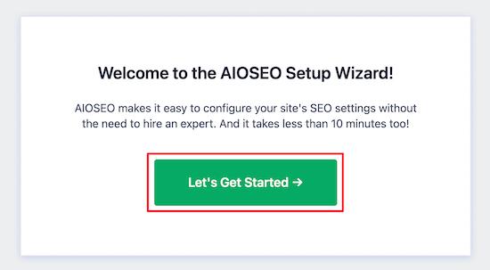 Assistant de configuration AIOSEO