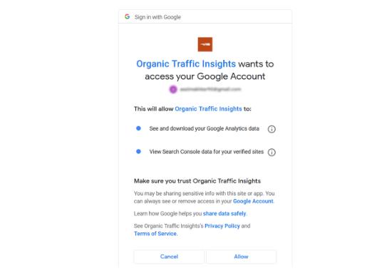 Autoriser l'accès à votre compte Google