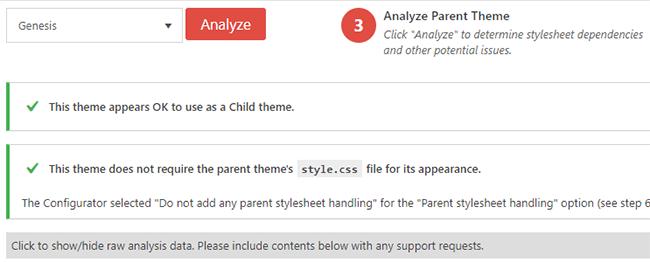 Analyser le sujet parent