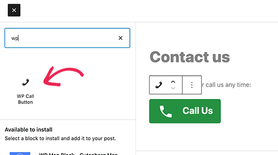 Ajout d'un bouton d'appel à l'aide de l'éditeur de blocs