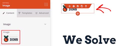 Changer le logo du menu