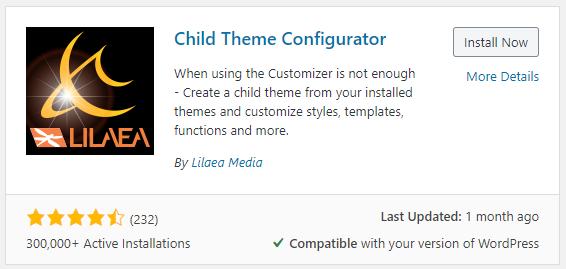 Annexe Configurateur de thème enfant
