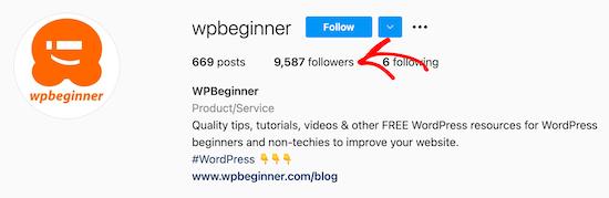 Cliquez sur les abonnés Instagram