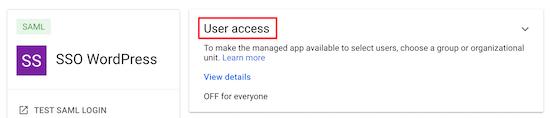 Click user access