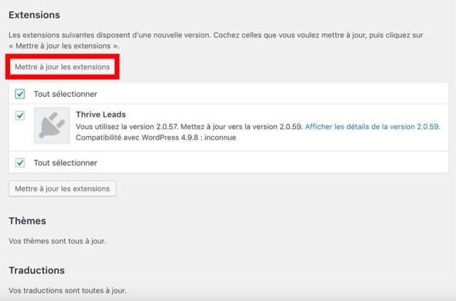 comment mettre a jour wordpress manuellement ou automatiquement