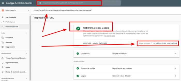 comment verifier si un site est indexe par google