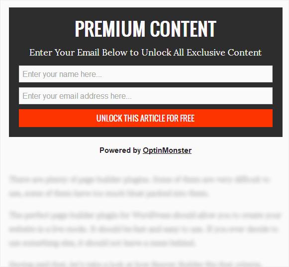 Exemple de verrouillage de contenu