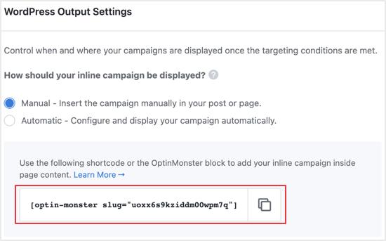Vous devez ajouter un code court à chaque message verrouillé