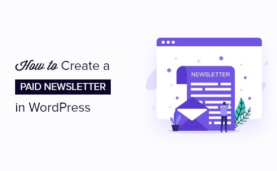 create a paid newsletter in WordPress og