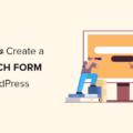 create advanced search form in WordPress og