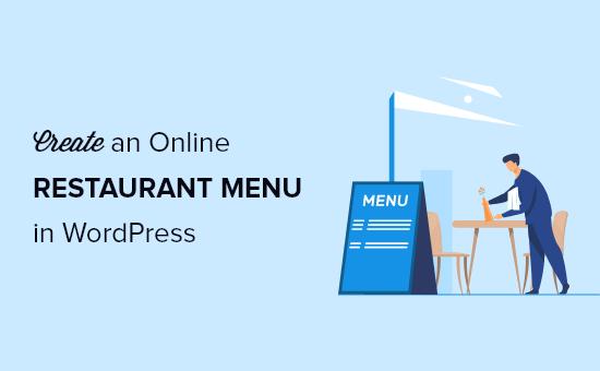 create an online restaurant menu in WordPress og