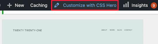 Personnaliser avec CSS Hero