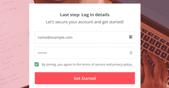 Enter email password for ConvertKit
