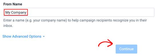 Entrez l'e-mail du nom