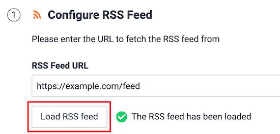 Entrez l'URL du flux RSS