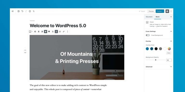 envisagez vous de mettre a jour votre site wordpress sur gutenberg