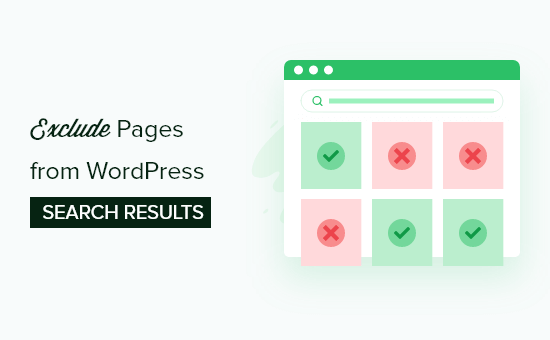 exclude pages from WordPress search results og
