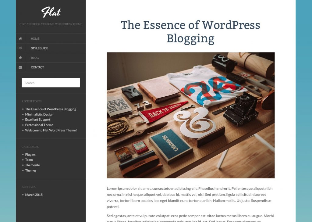 free wordpress themes for personal bloggers flat