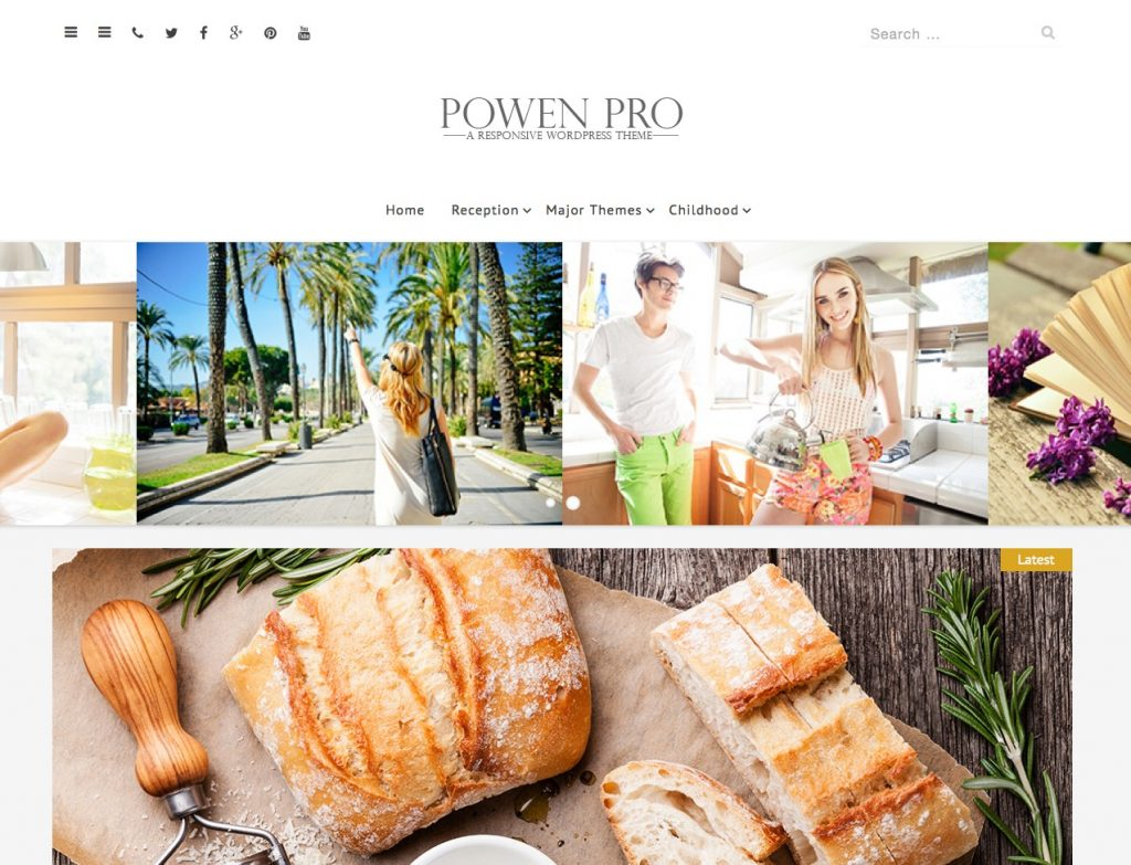 free wordpress themes for personal bloggers powen lite