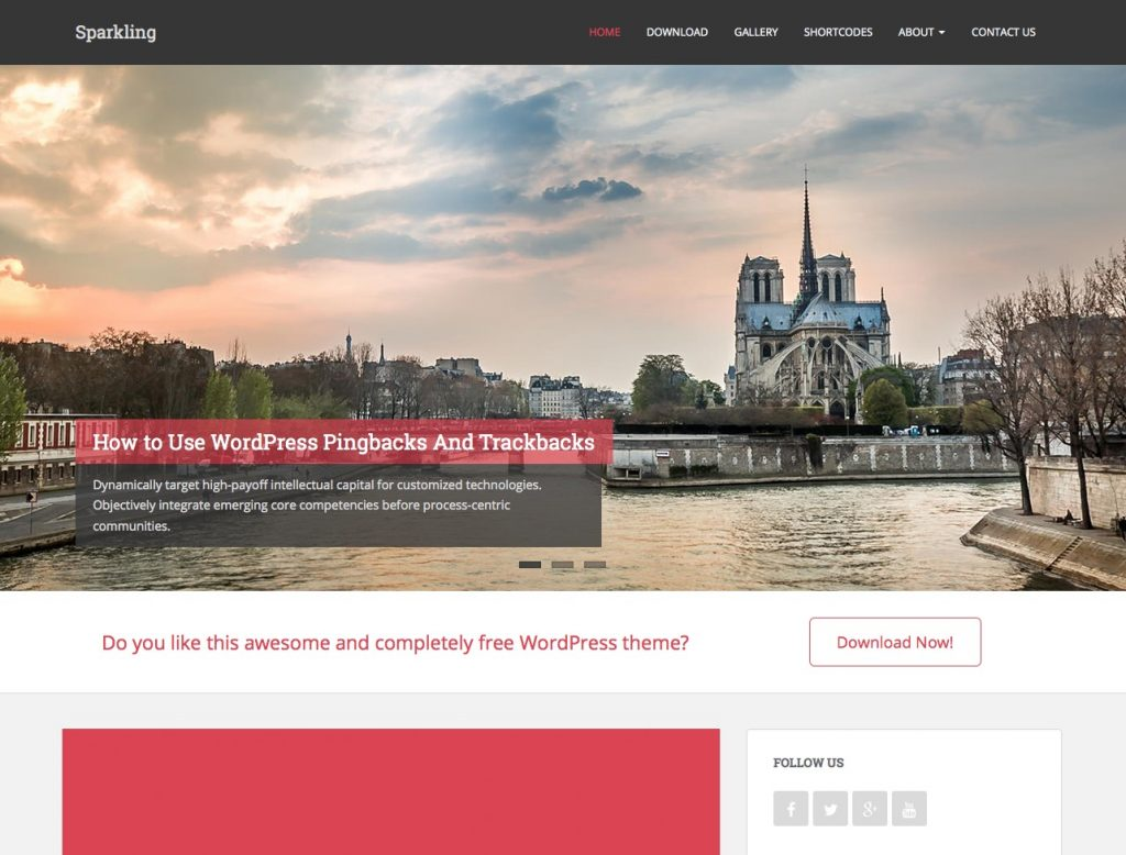 free wordpress themes for personal bloggers sparkling