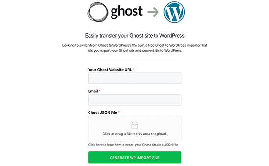 Outil de migration de Ghost vers WordPress
