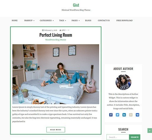 gist-WordPress-Free-BLog-theme