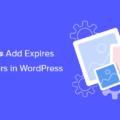 how to add expires headers in wordpress og