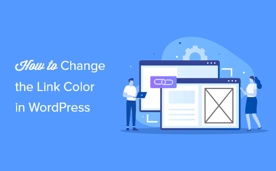 how to change the link color in wordpress og