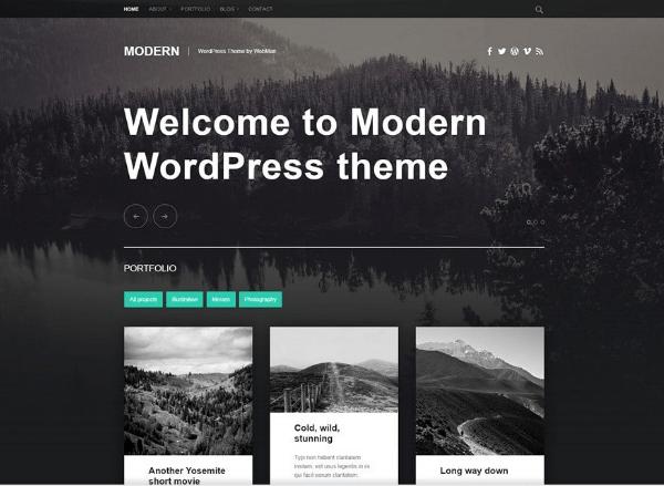 theme modern wordpress Gratuit