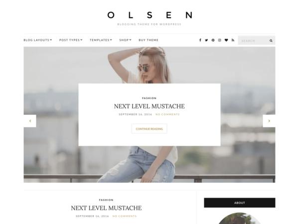 Olsen Light theme wordpress