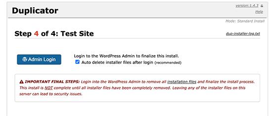 Fin de la migration de WordPress vers un nouveau nom de domaine