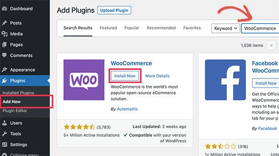 Installer WooCommerce