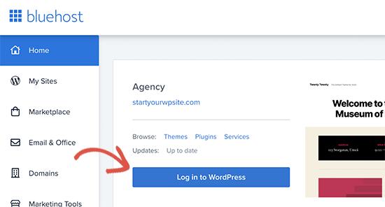 Connectez-vous à WordPress