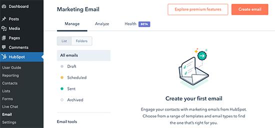 Envoyer des e-mails marketing