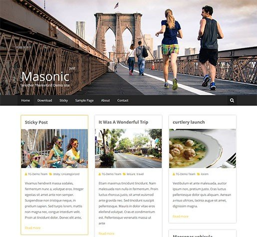 masonic-best-free-wordpress-blogging-theme