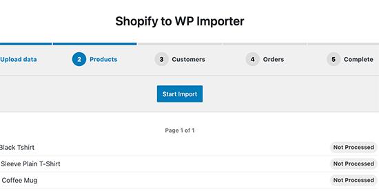 Importer des produits Shopify dans WooCommerce