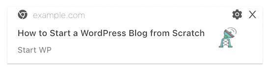 Exemple de notification de publication PushEngage